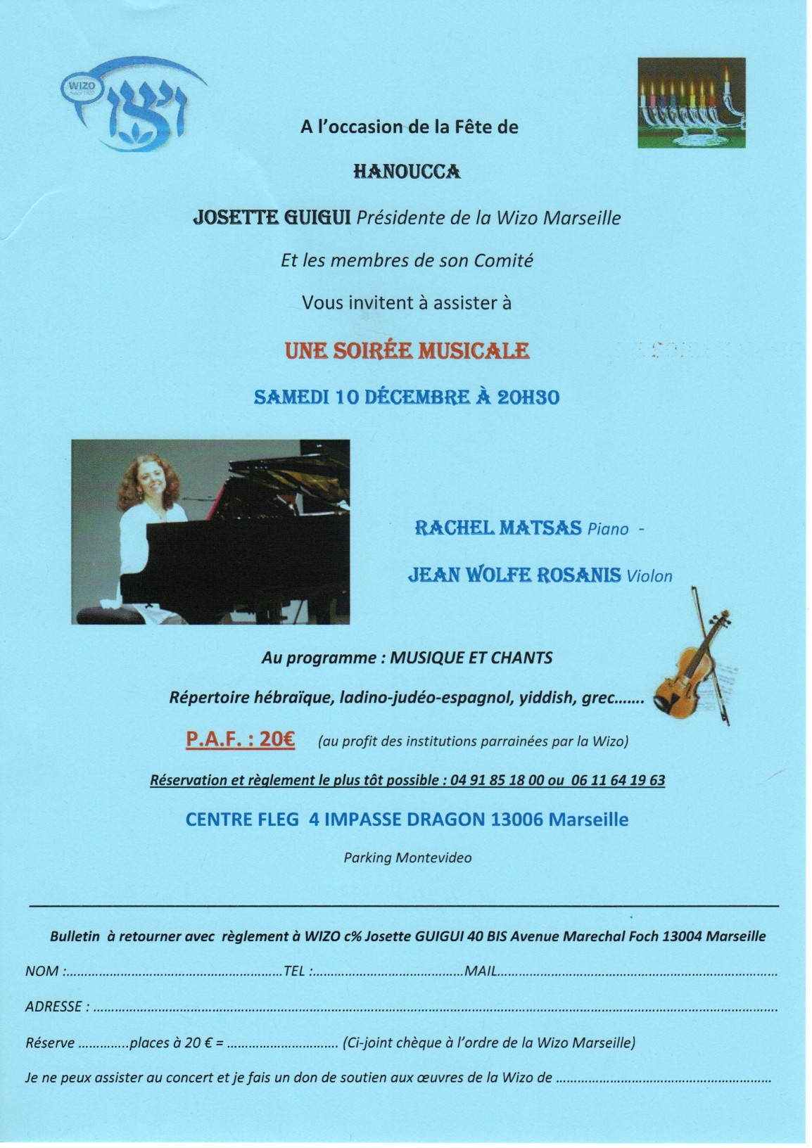 Concert - Wizo Marseile